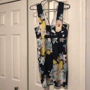 Lulu's Navy Floral Dress